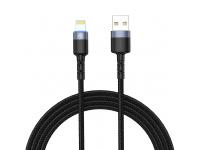 Cablu Date si Incarcare USB la Lightning Tellur LED, 2A, 2 m, Negru, Blister TLL155324