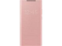 Husa Samsung Galaxy Note 20 N980 / Samsung Galaxy Note 20 5G N981, Led Wallet Cover, Bronz EF-NN980PAEGEU