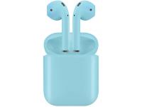 Handsfree Casti Bluetooth TWS I12, cu suport incarcare, MultiPoint, Albastru, Blister