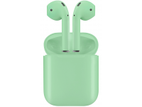 Handsfree Casti Bluetooth TWS I12, cu suport incarcare, MultiPoint, Verde, Blister