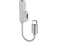 Adaptor Audio Splitter USB Type-C - USB Type-C / 3.5 mm Remax RL-LA02i, Argintiu, Blister
