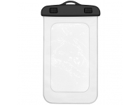 Husa OEM Waterproof pentru Telefon, Dimensiuni interioare 175x105 mm, Transparenta, Bulk