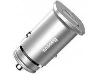 Incarcator Auto USB Baseus Square QC 4.0, 1 X USB - 1 X USB Tip-C, Argintiu, Blister CCALL-AS0S