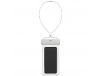 Husa TPU Baseus Universala Airbag Waterproof pentru Telefon IPX8, 7.2 inci, Alba, Blister  ACFSD-D02