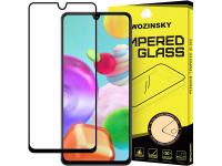 Folie Protectie Ecran WZK pentru Samsung Galaxy A41, Sticla securizata, Full Face, Full Glue, Neagra, Blister