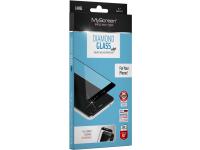 Folie Protectie Ecran MyScreen pentru Samsung Galaxy A21s, Sticla securizata, Full Face, Full Glue, MS Diamond, Neagra