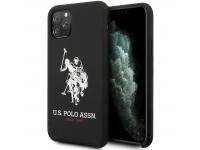 Husa TPU U.S. Polo Big Horse pentru Apple iPhone 11 Pro, Neagra, Blister USHCN58SLHRBK