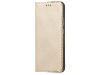 Husa Piele OEM Smart Magnet pentru Samsung Galaxy A21s, Aurie, Bulk
