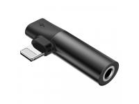 Adaptor Audio Splitter Lightning - Lightning / 3.5 mm Baseus L43, Negru, Blister CALL43-01