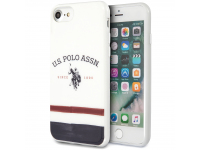 Husa TPU U.S. Polo Tricolore pentru Apple iPhone 8 / Apple iPhone SE (2020), Alba, Blister USHCI8PCSTRB