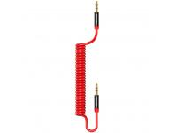 Cablu Audio 3.5 mm la 3.5 mm Usams Spring US-SJ256, 1.2 m, Rosu, Blister SJ256YP02