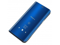 Husa Plastic OEM Clear View pentru Samsung Galaxy A31, Albastra, Blister