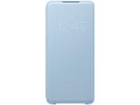 Husa Textil Samsung Galaxy S20 Plus G985, Led View, Albastra, Bulk EF-NG985PLEG