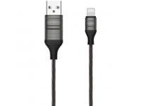 Cablu Incarcare USB la Lightning Remax Luminous RC-130i, 1 m, Negru, Blister