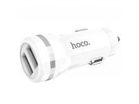 Incarcator Auto USB HOCO Z27, 2 X USB, Alb, Blister