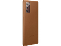 Husa Piele Samsung Galaxy Note 20 N980 / Samsung Galaxy Note 20 5G N981, Leather Cover, Maro, Blister EF-VN980LAEGEU
