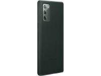 Husa Piele Samsung Galaxy Note 20 N980 / Samsung Galaxy Note 20 5G N981, Leather Cover, Verde EF-VN980LGEGEU