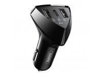 Incarcator Auto USB Remax RCC214, 35W, 3,1A, 1 X USB Tip-C - 2 X USB, Negru, Blister