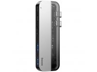 Hub USB Type-C Multifunctional Baseus, Thuderbolt 3, 5 Interfete, Gri, Blister CAHUB-TS0G