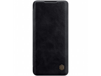 Husa Piele Nillkin Qin Book pentru Xiaomi Mi Note 10 Lite, Neagra, Blister