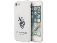 Husa TPU U.S. Polo Big Horse pentru Apple iPhone 8 / Apple iPhone SE (2020), Alba, Blister USHCI8SLHRWH