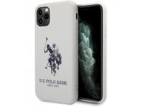 Husa TPU U.S. Polo Big Horse pentru Apple iPhone 11 Pro, Alba, Blister USHCN58SLHRWH
