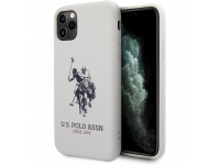 Husa TPU U.S. Polo Big Horse pentru Apple iPhone 11 Pro Max, Alba, Blister USHCN65SLHRWH
