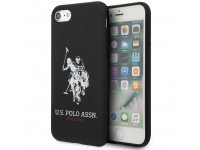 Husa TPU U.S. Polo Big Horse pentru Apple iPhone 8 / Apple iPhone SE (2020), Neagra, Blister USHCI8SLHRBK