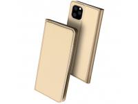 Husa Piele DUX DUCIS Skin Pro pentru Apple iPhone 11 Pro, Aurie, Blister