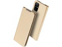 Husa Piele DUX DUCIS Skin Pro pentru Samsung Galaxy S20 Plus G985, Aurie, Blister