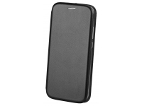 Husa Piele OEM Elegance pentru Samsung Galaxy A21s, Neagra, Bulk