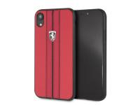 Husa Piele Ferrari Off Track pentru Apple iPhone XR, Rosie FEURHCI61REB
