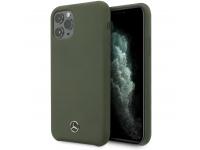 Husa TPU MERCEDES Microfiber Lining pentru Apple iPhone 11 Pro, Verde, Blister MEHCN58SILMG