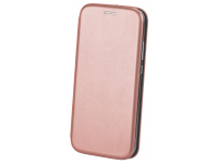 Husa Piele OEM Elegance pentru Huawei P40 lite, Roz Aurie, Bulk