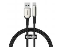 Cablu Incarcare USB - Lightning / USB Type-C / MicroUSB Baseus Zinc magnetic 2A, 1 m, Negru, Blister TZCAXC-F01