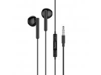 Handsfree Casti EarBuds HOCO M64 Melodious, Cu microfon, 3.5 mm, Negru, Blister