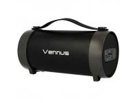 Boxa portabila Bluetooth Vennus TUBE TWS S22E, cu Radio, Negru, Blister