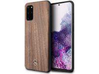 Husa Plastic - TPU MERCEDES Wood pentru Samsung Galaxy S20 Plus G985, Maro, Blister MEHCS67VWOLB