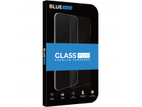 Folie Protectie Ecran BLUE Shield pentru Apple iPhone X / Apple iPhone XS, Sticla securizata, Full Face, Full Glue, 0.33mm, 9H, 2.5D, Neagra