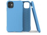 Husa TPU OEM Soft Color pentru Apple iPhone 11, Albastra, Bulk