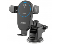 Incarcator Auto Wireless Dudao Gravity Car Mount F1Pro, Negru, Blister