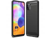 Husa TPU OEM Carbon pentru Samsung Galaxy A31, Neagra, Bulk