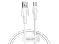 Cablu Date si Incarcare USB la USB Type-C Baseus VOOC, Quick Charge 3.0, 5 A, 1 m, Alb, Blister CATSW-F02