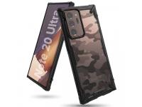 Husa Plastic - TPU Ringke Fusion X Design Camo pentru Samsung Galaxy Note 20 Ultra N985 / Samsung Galaxy Note 20 Ultra 5G N986, Neagra, Blister XDSG0036