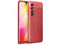 Husa TPU OEM Litchi Antisoc pentru Xiaomi Mi Note 10 Lite, Rosie, Bulk