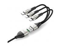 Cablu Incarcare USB - Lightning / USB Type-C / MicroUSB Joyroom S-M411, 1.5 m, Negru, Blister