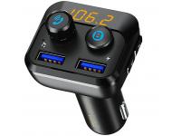 Modulator FM Bluetooth Remax RCC105, Mp3 Player, Buton de apel, Negru, Blister