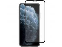 Folie Protectie Fata si Camera Spate Enkay pentru Apple iPhone 11 Pro Max, Sticla securizata, Full Face, Full Glue, Neagra, Blister
