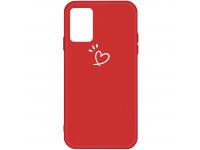 Husa TPU OEM Antisoc pentru Samsung Galaxy A71 A715, Heart, Rosie, Bulk