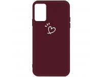 Husa TPU OEM Antisoc pentru Samsung Galaxy A71 A715, Heart, Visinie, Bulk
